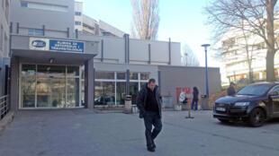 L'entrée de l'hôpital de Sarajevo.