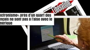 """No jornal Libération desta terça-feira (26) destaque para o """"iletronismo"""", como é chamado na França a situação de pessoas que não sabem lidar ou não têm acesso a internet."""