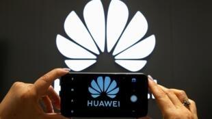 Thương hiệu Hoa Vi (Huawei) tại một cửa hàng ở Chilê. (Ảnh chụp ngày 18/07/2019)