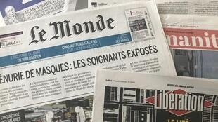 Coronavírus domina primeira páginas dos jornais