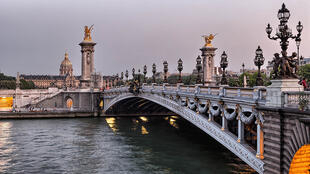 The Pont Alexandre III bridge in Paris, France was built at the end of the 19th century.