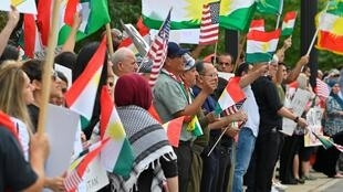 Khoảng 500 người biểu tình ủng hộ người Kurdistan trước Tòa án liên bang ở Nashville, bang Tennessee, Mỹ, ngày 11/10/2019.
