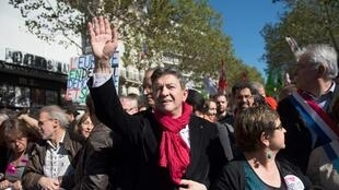 Left Front leader Jean-Luc Mélenchon in Paris on 30 September