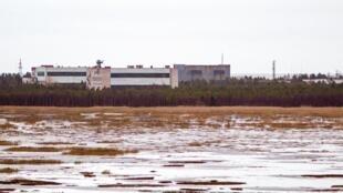 Cette photo prise en 2011 montre la base militaire de Nionoska, dans la région d'Arkhangelsk, dans le Grand Nord russe. Le 8 août 2019, une explosion dans cette base militaire a tué deux personnes.t