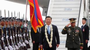 圖為中國國家主席習近平2018年11月20日抵達菲律賓訪問