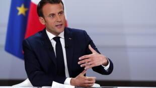 法国总统马克龙在4月25日发表讲话
