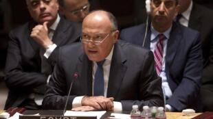 Sameh Shoukry, le ministre des Affaires étrangères égyptien (photo d'illustration).