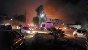 L'explosion survient aux alentours de 19h dans la municipalité de Tlahuelilpan, Hidalgo, le 18 janvier 2019.
