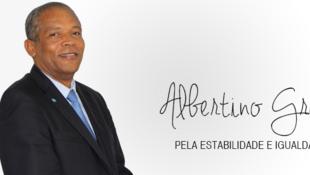 Cartaz de Albertino Graça, candidato presidencial