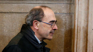 Cardinal Philippe Barbarin, Archbishop of Lyon, arrives at his appeal trial in Lyon on 28 November, 2019.