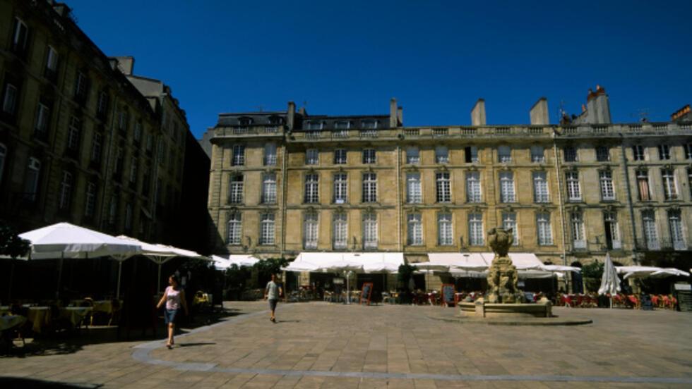Le centre-ville de Bordeaux, dans le Sud-Ouest de la France.