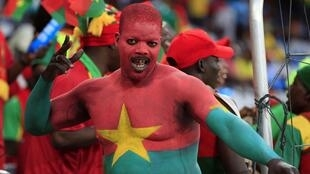 A supporter of Burkina Faso
