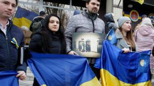 Акция в поддержку украинских моряков, задержанных ФСБ России. Одесса, 26 ноября 2018
