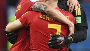 Bélgica festeja apuramento para as meias-finais do Mundial de futebol da Rússia após derrotar o Brasil por duas bolas a uma.