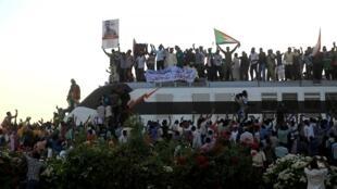 Manifestation à Khartoum le 23 avril 2019.