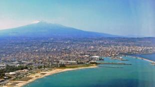 Catane, au pied de l'Etna.