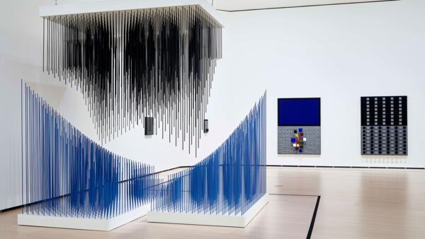 'Doble progresión azul y negra', 1975.