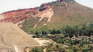 Asbestos mine in Mashava, Zimbabwe