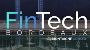 Logo FinTech de Bordéus, em França  sobre a banca, incubadoras, plataformas digitais