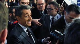 French President Nicolas Sarkozy at the Sens Commun meeting