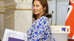 La ministre française de l'Environnement, Ségolène Royal, le 4 avril 2016 à Paris.