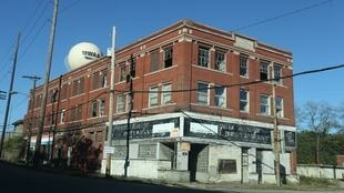 An old industrial building in Aliquippa, Pennsylvania.