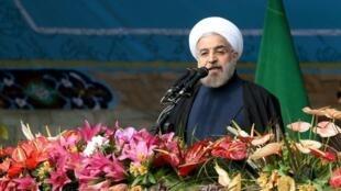 حسن روحانی در مراسم چهل و یکمین سالروز انقلاب اسلامی