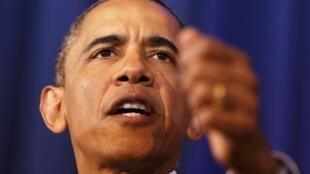 Барак Обама в Национальном Университете обороны в Вашингтоне 23 мая 2013