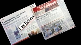 O Brasil está em destaque nas páginas dos jornais franceses Les Echos e Le Figaro desta segunda-feira (12).