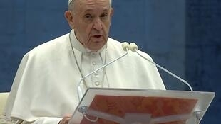 Pope addresses the Christian faithful during televised address at Vatican City on 27 March 2020.