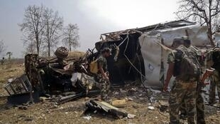 A roadside bomb triggered by suspected Maoist guerrillas killed 11 policemen in Gadchiroli, east of Mumbai on 27 March, 2012