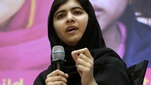 Malala Yousafzai em Washington, EUA, 11/10/2013.