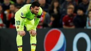 Kaftin din Barcelona Lionel Messi.