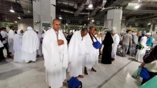 Des pèlerins à la Grande Mosquée de La Mecque, le 7 août 2019.