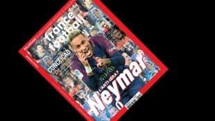 Neymar é capa da edição desta terça-feira (26) da revista France Football.