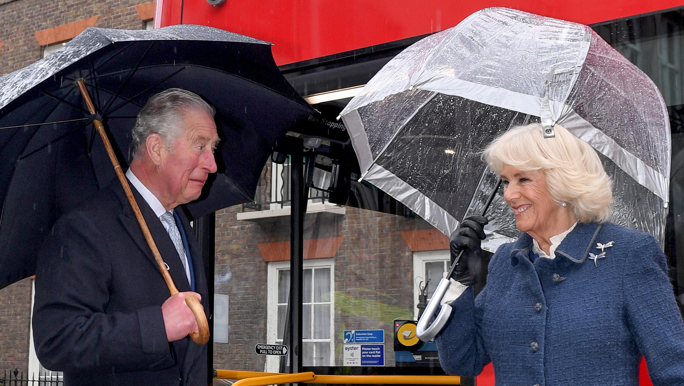 Prince Charles and Camilla, Duchess of Cornwall in London at the beginnning of March. Camilla has tested negative for Covid-19
