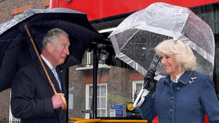 Prince Charles and Duchess of Cornwall in London at the beginnning of March. Camilla has tested negative for Covid-19