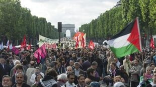Pro Palestinian march in Paris