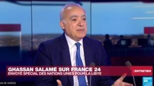 L'émissaire de l'ONU en Libye Ghassan Salamé était l'invité de France 24 mardi 28 mai 2019.