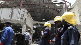 Destroyed building of ThisDay newspaper after a bomb blast in its premises in Abuja 26 April 2012