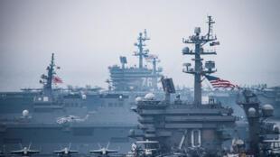 Hàng không mẫu hạm USS Ronald Reagan tại Biển Nhật Bản ngày 01/06/2017.