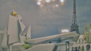 Отклоненный на конкурсе проект православного центра в Париже Фредерика Бореля