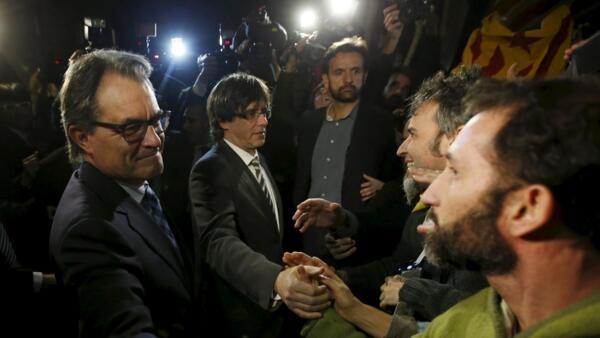 加泰羅尼亞新領導人與追隨民眾見面