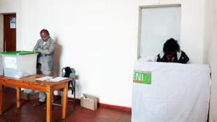 Un bureau de vote à Antananarivo, le 19 décembre 2018.