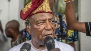 L'ancien président béninois Nicéphore Soglo le 19 avril 2019.