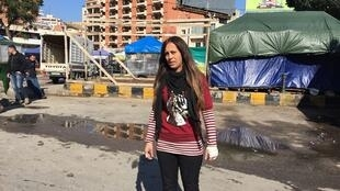 Sanaa El Cheikh, 29 ans, une jeune protestataire blessée lors du mouvement de contestation au Liban.