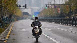 Một phố lớn ở thanh phố Vũ Hán, Trung Quốc, ngày 26/01/2020.