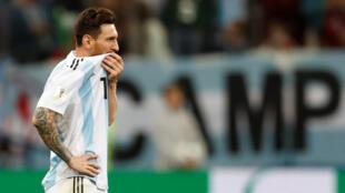 L'Argentin Lionel Messi, lors de la Coupe du monde 2018.