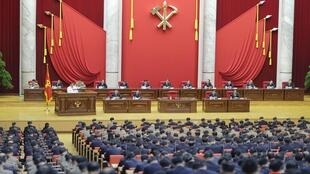 Hội nghị toàn thể lần thứ V của Ban Chấp Hành Trung Ương đảng Lao Động Triều Tiên. Ảnh không ghi ngày do hãng tin Bắc Triều Tiên KCNA công bố ngày 29/12/2019.