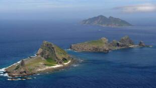 圖為釣魚島diaoyu/Senkaku Islands遠眺